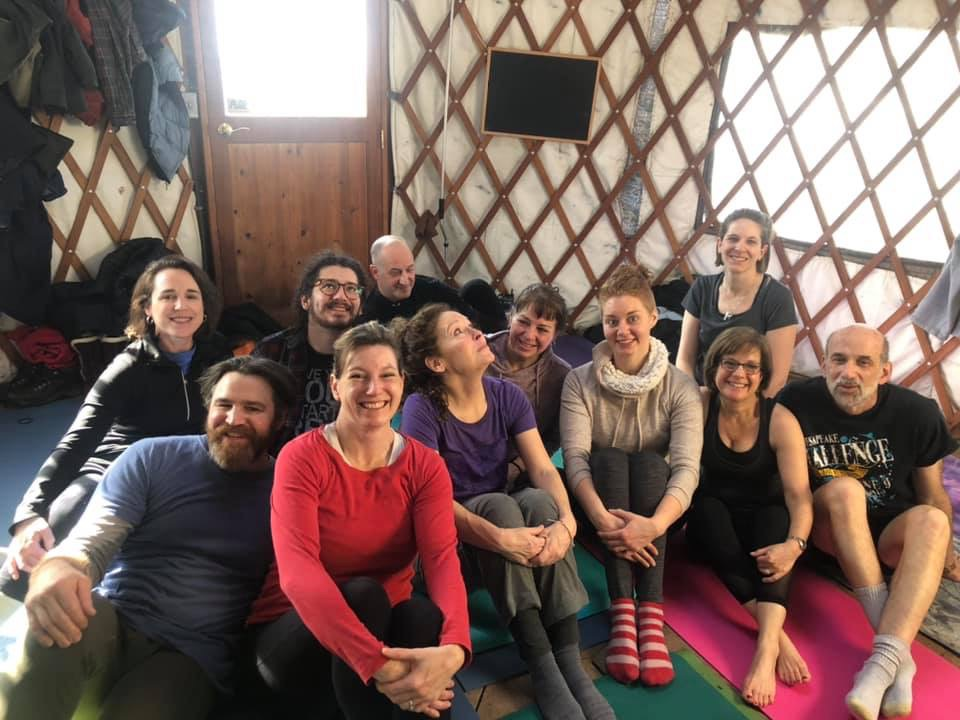 Yoga in the Yurt