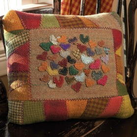 Scattered Hearts Pillow Pattern by Jo Ann Mullaly, Spring 2012
