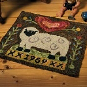 Happy Grazing Hooked Rug by Tonya Robey