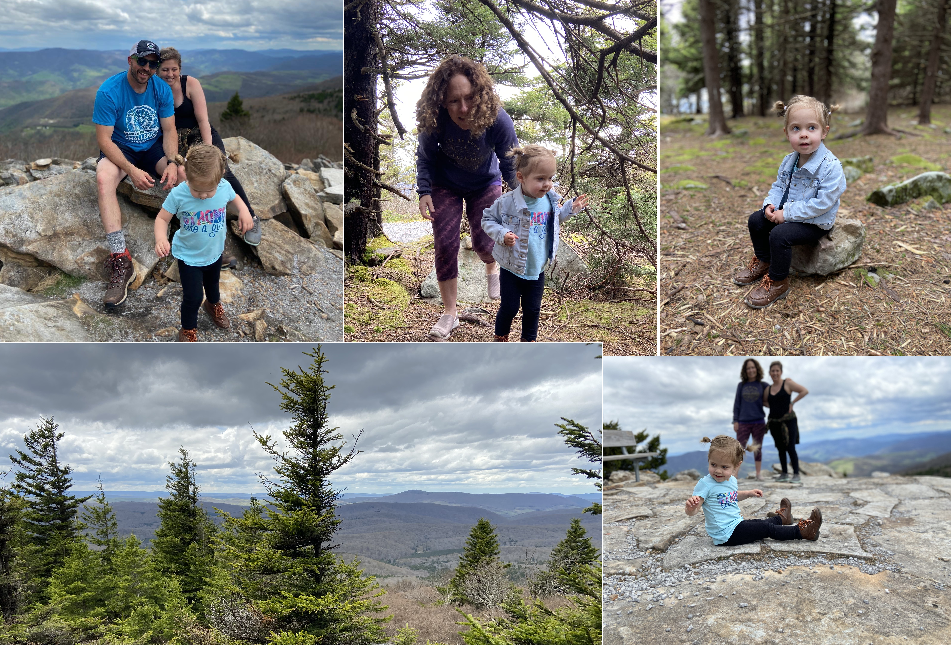 Visiting Spruce Knob, the highest point in West Virginina